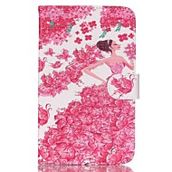 Для Кейс для  Samsung Galaxy Бумажник для карт / Кошелек / со стендом / Флип / С узором Кейс для Чехол Кейс для Соблазнительная девушка