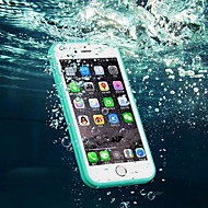 Недорогие Кейсы для iPhone 8-Кейс для Назначение Apple iPhone 8 iPhone 8 Plus iPhone 6 iPhone 6 Plus iPhone 7 Plus iPhone 7 Защита от влаги Прозрачный Чехол Сплошной