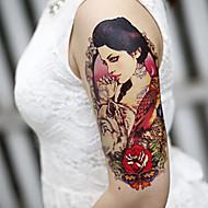 큰 팔 꽃 가짜 전송 임시 문신 바디 섹시 스티커 방수