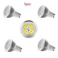 お買い得  LED スポットライト-5個 4W 350lm E14 GU10 GU5.3 E26 / E27 LEDスポットライト 4 LEDビーズ ハイパワーLED 装飾用 温白色 クールホワイト 85-265V