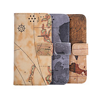 Недорогие Чехлы и кейсы для Galaxy S7-Для Samsung Galaxy S7 Edge Кошелек / Бумажник для карт / со стендом / Флип Кейс для Чехол Кейс для Плитка Искусственная кожа SamsungS7