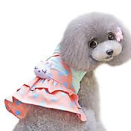 犬 ドレス 犬用ウェア 水玉 / 波点 イエロー コットン コスチューム 用途 春 & 秋 夏 女性用 ファッション