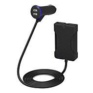 poweriq 36W intelligens 4 portos személygépkocsi töltő fekete 5V / 7.2a iPhone / iPad / Samsung / Huawei stb