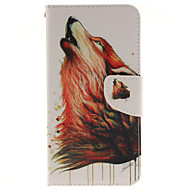 Для Кейс для  Samsung Galaxy Бумажник для карт / со стендом / Флип / Магнитный / С узором Кейс для Чехол Кейс для Животный принт