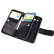 Недорогие Чехлы и кейсы для Galaxy Core Prime-Кейс для Назначение SSamsung Galaxy Кейс для  Samsung Galaxy Бумажник для карт Кошелек Флип Чехол Сплошной цвет Кожа PU для Grand Prime