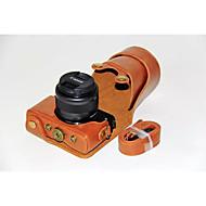 dengpin® pu bolsa de caja de la cámara cubierta de cuero con correa para el hombro para Canon EOS m10 15-45 lente (colores surtidos)