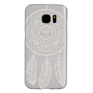 voordelige Galaxy S5 Mini Hoesjes / covers-dreamcatcher patroon frosted transparante pc telefoon geval voor Samsung Galaxy S5 / S7 / s4 mini / s5 mini / s6 edge / S7 edge / S7 plus