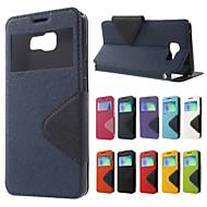Назначение Кейс для  Samsung Galaxy Чехлы панели Бумажник для карт со стендом Флип Магнитный Чехол Кейс для Сплошной цветИскусственная