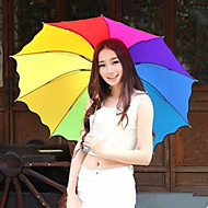 A szivárványos esernyő összecsukható esernyő UV védelem véletlenszerű szín
