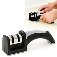 お買い得  キッチン用小物-2in1は2削りセラミック粗&ナイフはさみツールのタングステン鋼細かい包丁研ぎ器(ランダムカラー)