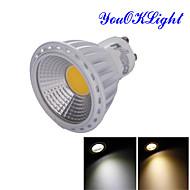 お買い得  LED スポットライト-GU10 LEDスポットライト R63 1 LEDの COB 装飾用 温白色 クールホワイト 600lm 3000/6000K AC 85-265 交流220から240 AC 110-130V