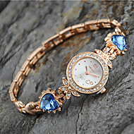 cheap Watch Deals-Women's European Style New Fashion Rhinestone Heart Bracelet Watches Cool Watches Unique Watches