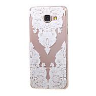 Для Кейс для  Samsung Galaxy Прозрачный / С узором Кейс для Задняя крышка Кейс для Кружевной дизайн TPU Samsung A5(2016) / A3(2016)