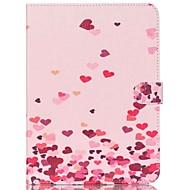 Недорогие Чехлы и кейсы для Samsung Tab-Кейс для Назначение Samsung Бумажник для карт Кошелек со стендом С узором Авто Режим сна / Пробуждение Чехол С сердцем Твердый Кожа PU для