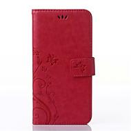 Na Samsung Galaxy Etui Etui na karty / Portfel / Z podpórką / Flip / Wytłaczany wzór Kılıf Futerał Kılıf Motyl Skóra PU SamsungS6 edge