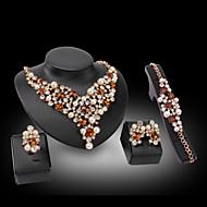 Женский Синтетический алмаз Любовь Pоскошные ювелирные изделия Синтетические драгоценные камни Жемчуг 18K золото Искусственный бриллиант