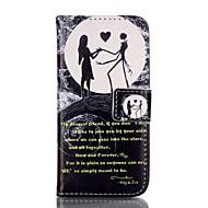 Недорогие Кейсы для iPhone 8-Кейс для Назначение Apple iPhone 8 iPhone 8 Plus Кейс для iPhone 5 Бумажник для карт Кошелек со стендом Флип С узором Чехол Слова /