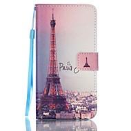 Для Кейс для  Samsung Galaxy Кошелек / Бумажник для карт / со стендом / Флип Кейс для Чехол Кейс для Эйфелева башня Искусственная кожа