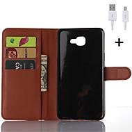 искусственная кожа флип бумажник случае с USB-кабель для галактики Самсунга a3 / a5 / А7 / А8 / А9