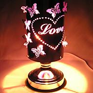 2016 nuevo horno de inducción lámpara de aromaterapia de hierro forjado coloridas hojas llevó la luz de la noche para la decoración casera