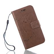 Недорогие Чехлы и кейсы для Galaxy S6 Edge Plus-Кейс для Назначение SSamsung Galaxy Кейс для  Samsung Galaxy Кошелек / Бумажник для карт / со стендом Чехол Бабочка Кожа PU для S7 Active / S7 plus / S7 edge plus