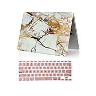 お買い得  MacBook 用ケース/バッグ/スリーブ-MacBook ケース のために マーブル ABS MacBook Pro 15インチ MacBook Pro 13インチ MacBook Air 11インチ
