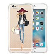 Назначение iPhone X iPhone 8 iPhone 6 iPhone 6 Plus Чехлы панели Защита от удара Прозрачный Задняя крышка Кейс для Соблазнительная девушка