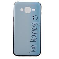 Для Кейс для  Samsung Galaxy С узором Кейс для Задняя крышка Кейс для Слова / выражения TPU Samsung J5 / J1 / Grand Prime / Core Prime