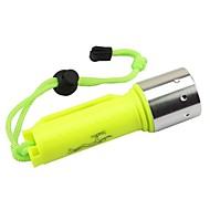 LS1779 Diving Flashlights/Torch LED 2000 lm 1 Mode Cree XM-L2 T6 with Battery and Charger Impact Resistant Waterproof Compact Size