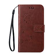 Для Кейс для  Samsung Galaxy Чехлы панели Бумажник для карт со стендом Флип Магнитный Рельефный Чехол Кейс для Бабочка Мягкий