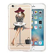 Недорогие Кейсы для iPhone 8-Кейс для Назначение Apple iPhone X iPhone 8 iPhone 6 iPhone 6 Plus Защита от удара Прозрачный С узором Кейс на заднюю панель