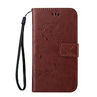Недорогие Чехлы и кейсы для Galaxy Core Prime-Кейс для Назначение SSamsung Galaxy Кейс для  Samsung Galaxy Бумажник для карт Кошелек со стендом Флип Чехол Бабочка Кожа PU для Trend 3