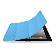 ケース 用途 iPadの4/3/2 ソリッドカラー / オートスリープ / ウェイクアップ / フォリオケース スペシャルデザイン PUレザー のために