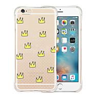Для Кейс для iPhone 6 / Кейс для iPhone 6 Plus Защита от удара / Прозрачный / С узором Кейс для Задняя крышка Кейс для Плитка Мягкий