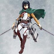 Anime Akciófigurák Ihlette Kardművészet Online Mikasa Ackermann 15 CM Modell játékok Doll Toy