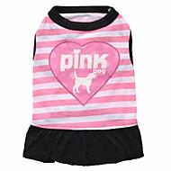 お買い得  -ネコ 犬 ドレス 犬用ウェア 花/植物 パープル ピンク コットン コスチューム ペット用 男性用 女性用 ファッション