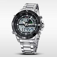 WEIDE Muškarci Ručni satovi s mehanizmom za navijanje digitalni sat Kvarc Šiljci za meso Japanski kvarcLCD Kalendar Kronograf