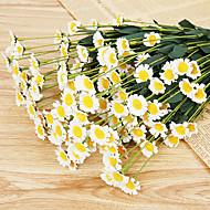 abordables Flores Artificiales-Flores Artificiales 1 Rama Estilo europeo Margaritas Flor de Mesa