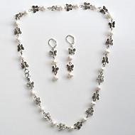 Női Ékszer készlet Nyaklánc / fülbevaló Szintetikus drágakövek Gyöngy Animal Shape Pillangó Nyakláncok Naušnice Kompatibilitás Esküvő