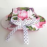 Недорогие Бижутерия и аксессуары для собак-Кошка Собака Платки и шапочки Одежда для собак Цветы Розовый Нейлон Костюм Для домашних животных Муж. Жен. На каждый день Праздник Свадьба
