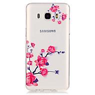 Недорогие Чехлы и кейсы для Galaxy J5-Кейс для Назначение SSamsung Galaxy Кейс для  Samsung Galaxy Прозрачный Кейс на заднюю панель Цветы ТПУ для J5 (2016) J5