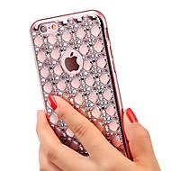 Назначение iPhone X iPhone 8 iPhone 6 iPhone 6 Plus Чехлы панели Стразы Покрытие Задняя крышка Кейс для Сияние и блеск Мягкий Термопластик