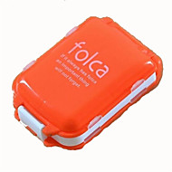 Mini Portable Folding with Three Separate Sections of Eight Grid Medicine Pill Box Storage Container Random Color