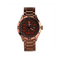 SINOBI Мужской Наручные часы Календарь Защита от влаги Спортивные часы Кварцевый сплав Группа Розовое золото