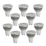 お買い得  LED スポットライト-GU10 GU5.3(MR16) LEDスポットライト MR16 ハイパワーLED 350-400 lm 温白色 クールホワイト 明るさ調整 交流220から240 AC 110-130 V 10個