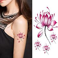 Хэллоуин женщины цветок лотоса татуировки временные татуировки наклейки временное искусство тела татуировки водонепроницаемый