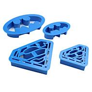 Χαμηλού Κόστους -Εργαλεία ψησίματος Πλαστική ύλη Φιλικό προς το περιβάλλον Κέικ / Μπισκότα κινούμενα σχέδια σε σχήμα ψήσιμο Mold 4pcs