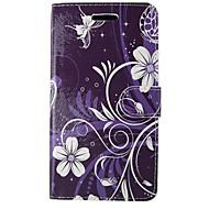 цветы пу кожаный флип чехол с магнитной оснасткой и слот для карт памяти для Samsung Galaxy ACE / j1 ядра плюс / Core 2 / ядро премьер