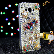 For Samsung Galaxy Case Rhinestone Case Back Cover Case Glitter Shine TPU Samsung J7 / J5