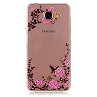 Недорогие Чехлы и кейсы для Galaxy A3(2016)-Кейс для Назначение SSamsung Galaxy Кейс для  Samsung Galaxy Стразы Прозрачный С узором Кейс на заднюю панель Цветы ТПУ для A5(2016)
